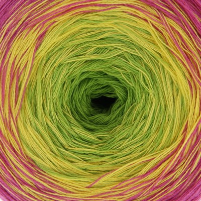 Lammy Yarns - Magic colors 601 lime geel roze