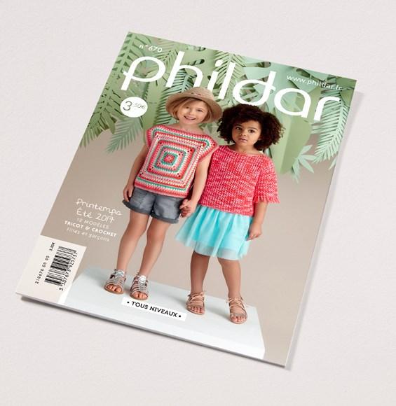 6d099682427 Phildar nr 670 12 modellen voor kinderen van 4 tot 10 jaar ...