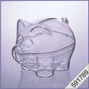 Plexiglas spaarvarken 9 cm