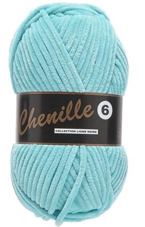 Lammy Yarns Chenille 6 - 47 aqua blauw