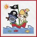 Woezel en Pip piratenboot
