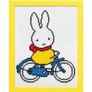 Borduurpakket Nijntje op de fiets