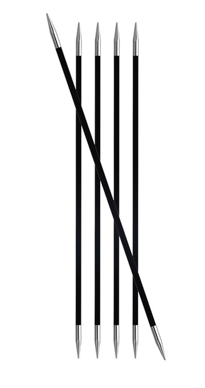 Knitpro - Breinaalden 20 cm zonder knop nr 4 - Karbonz