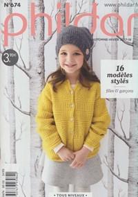 Phildar nr 674 16 modellen voor kinderen van 4 t/m 14 jaar