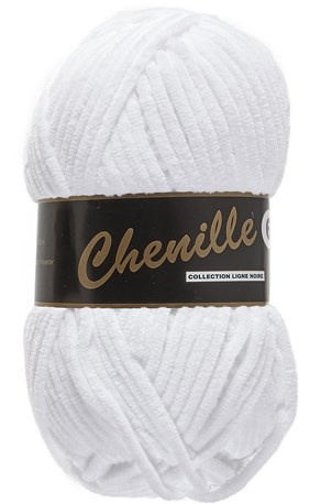Lammy Yarns Chenille 6 - 005 wit