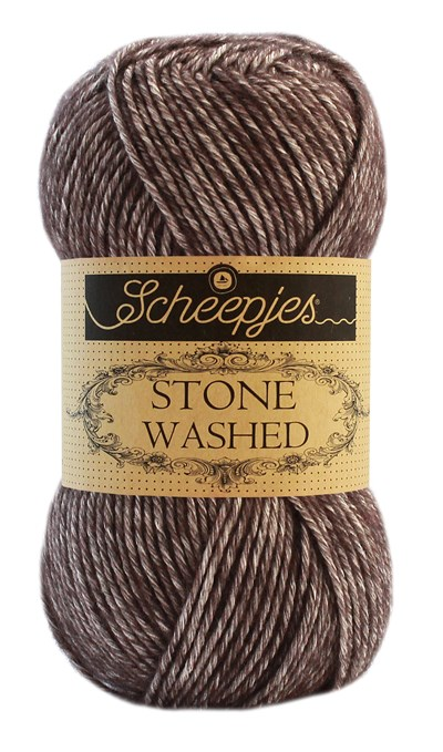 Scheepjes Stone Washed 829 donker bruin