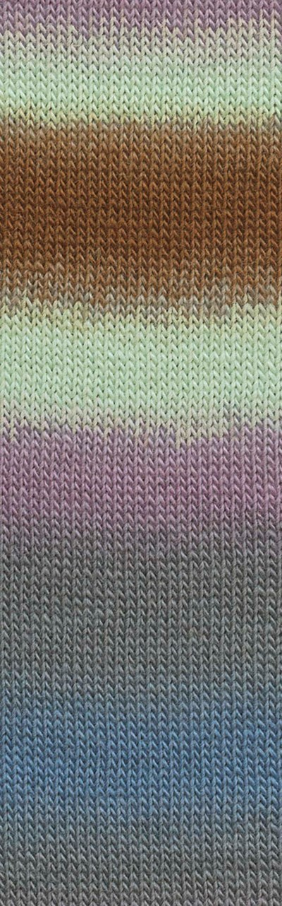 Lang Yarns Jawoll Magic Degrade 85.0067 mint oud roze grijs