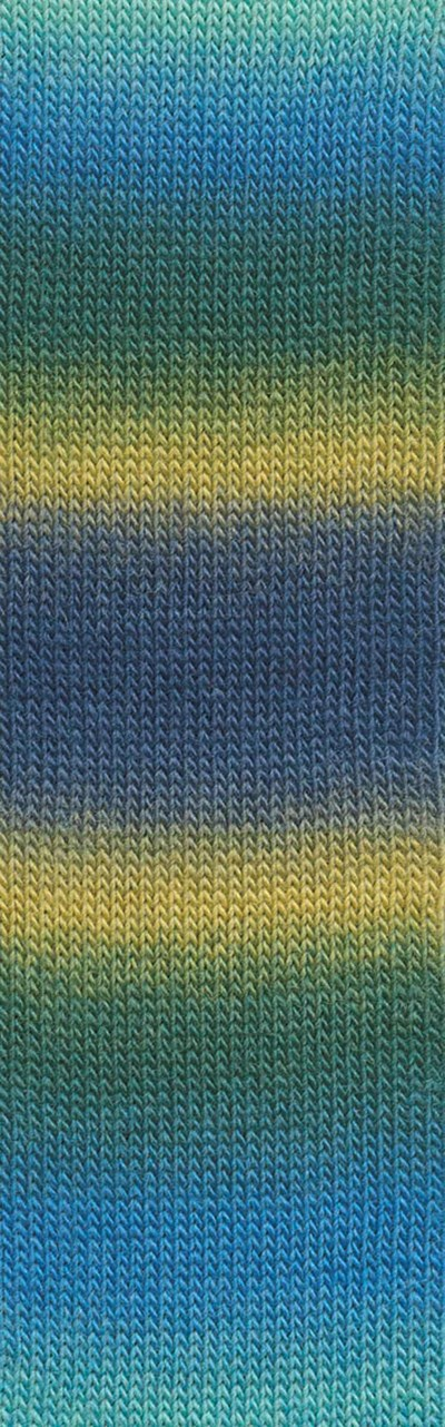 Lang Yarns Jawoll Magic Degrade 85.0106 aqua geel