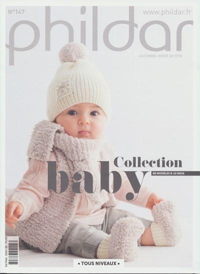 Phildar nr 147 60 modellen voor baby van 0-12 maanden (op=op)
