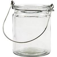 Lantaarn glas hoogte 100 mm, doorsnee 76 mm (3 stuks)