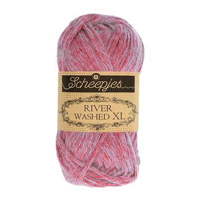 Scheepjes River Washed XL 985 Ganges - roze mint