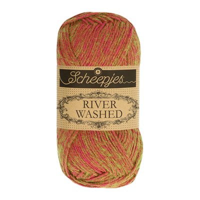 Scheepjes River Washed 947 Seine - rood groen