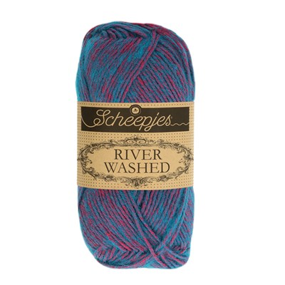 Scheepjes River Washed 941 Colorado - donker aqua roze