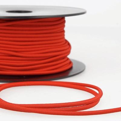 Elastiek koord 3 mm - rood 1 meter