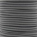 Elastiek koord 3 mm - grijs (1 meter)