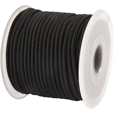 Elastiek koord 2 mm - zwart 1 meter