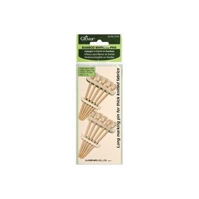 Clover 3143 markeerspelden bamboo 7 cm 10 stuks