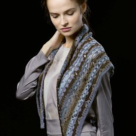 Lang Yarns Leaflet driehoek sjaal - jawoll magic degrade