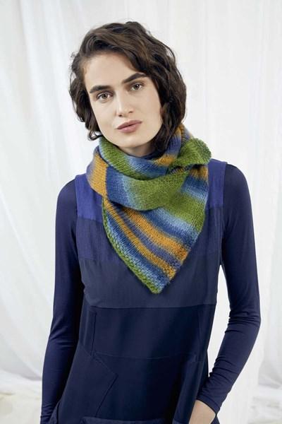 Lang Yarns Leaflet sjaal - Rosalba