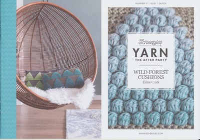 Scheepjes Yarn after party no. 17 Wild forest cushions