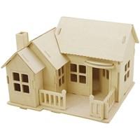 Bouwpakket 3D huis 57875 met veranda 17 a 17,5 a 15 triplex