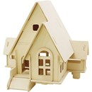 Bouwpakket 3D huis 57874 met 2 puntdakjes 22,5 a 17,5 a 20,5 cm