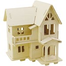 Bouwpakket 3D huis 57877 - 2 laags met balkon 22,5 a 17,5 a 20,5 cm