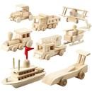 Vervoermiddelen hout 5 a 6 a 11 cm (8 stuks) - 57722