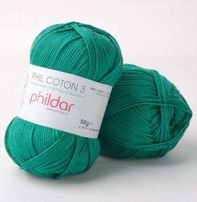 Phildar Phil coton 3 Sapin op=op