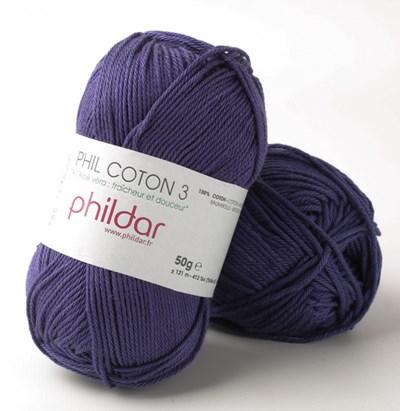 Phildar Phil coton 3 Encre op=op