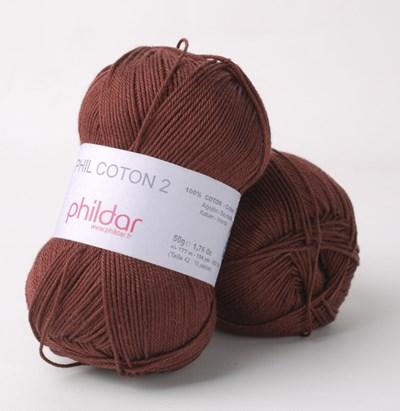 Phildar Phil coton 2 Bordeaux 2038