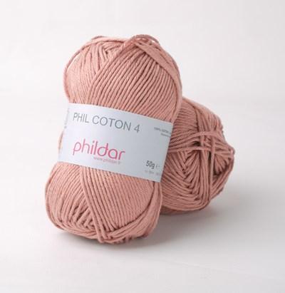 Phildar Phil Coton 4 Vieux rose - roze donker huidskleur