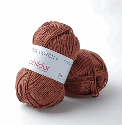 Phildar Phil Coton 4 Ecureuil - bruin oranje