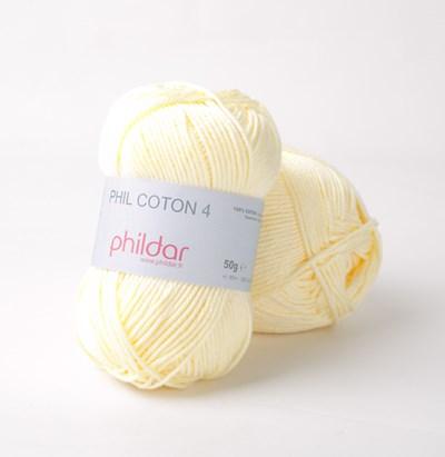 Phildar Phil Coton 4 Poussin - geel licht