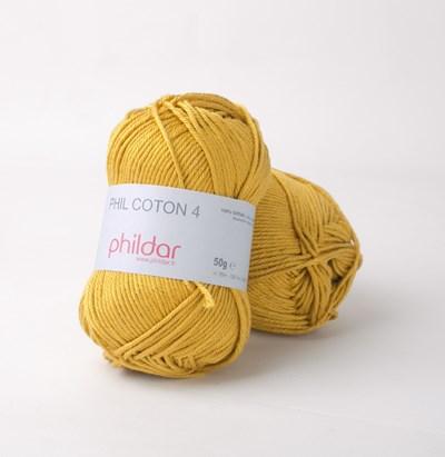 Phildar Phil Coton 4 Colza - geel goud