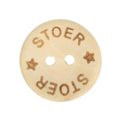 Knoop 15 mm houtlook - Stoer