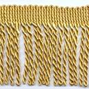 Franje gedraaid 6,5 cm - goud (per meter)