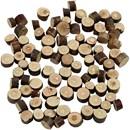 Houtschijven mix mini 7 tot 10 cm dikte 4-5 mm (ca 230 gram)