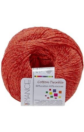 Lammy Yarns Cotton twinkle 17 donker oranje op=op