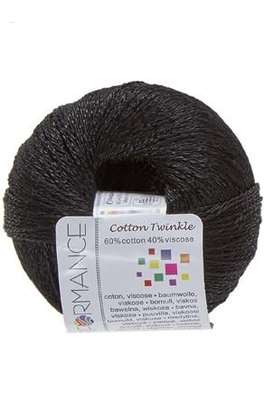 Lammy Yarns Cotton twinkle 01 zwart