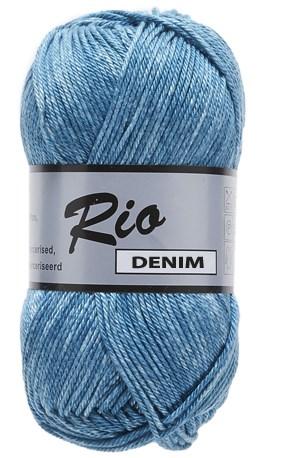 Lammy Yarns Rio denim 659 donker aqua blauw