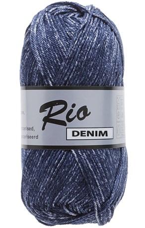 Lammy Yarns Rio denim 658 donker jeans blauw