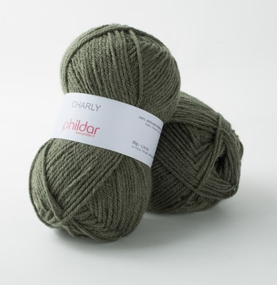 Phildar Charly Militaire 2298 - groen donker op=op