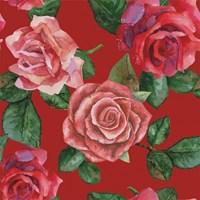 Stenzo tricotstof rozen - rood (50 cm)