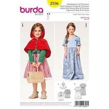 Burda 2356 naaipatroon kostuum prinsessenjurk en roodkapje 92 t/m 128