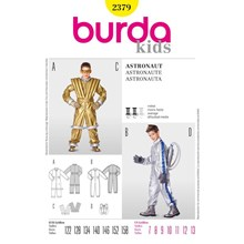 Burda 2379 naaipatroon kostuum astronaut 122 t/m 158