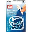 Prym 401205 clip on handdoeklusjes - wit (5 stuks)
