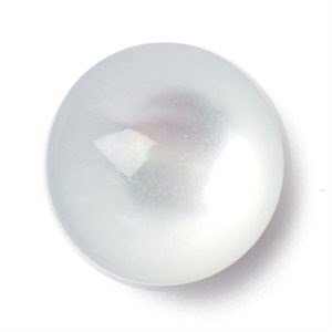 Knoop 14 mm bol doorzichtig wit
