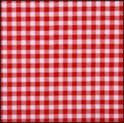 Lint 15 mm ruit rood - wit per meter
