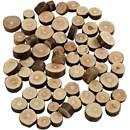 Houtschijven mix mini 10 tot 15 cm dikte ca 5 mm (ca 230 gram)